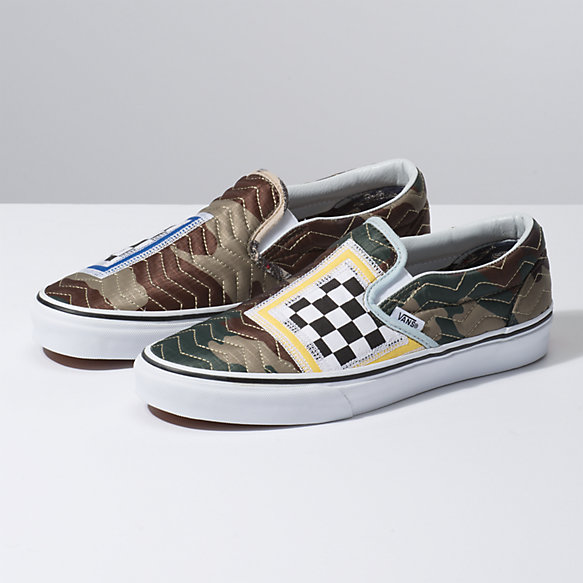 Mixed Quilting Slip-On
