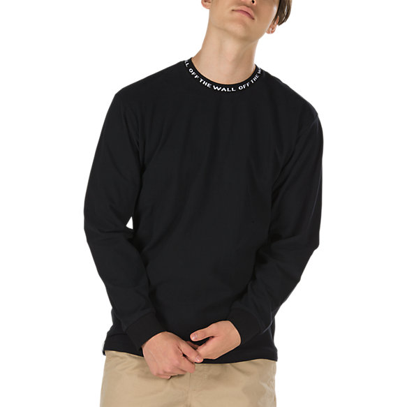 Off The Wall Jacquard Long Sleeve T-Shirt